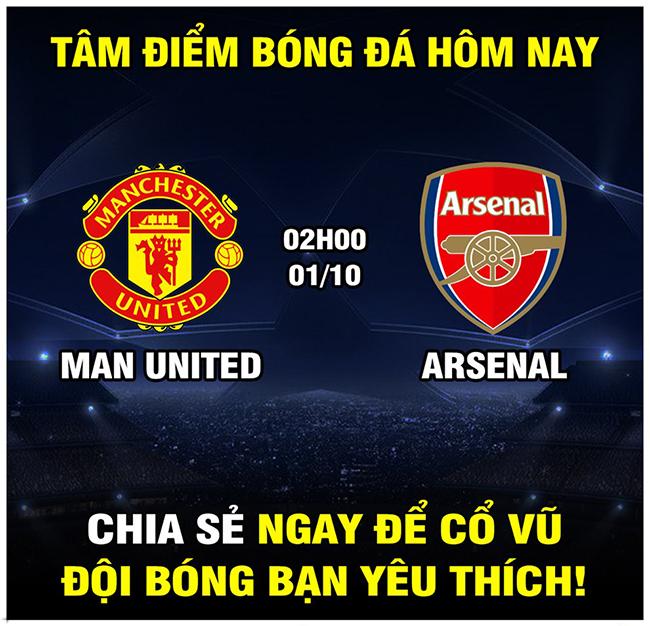 Đêm nay đại chiến MU vs Arsenal ai sẽ chiến thắng?