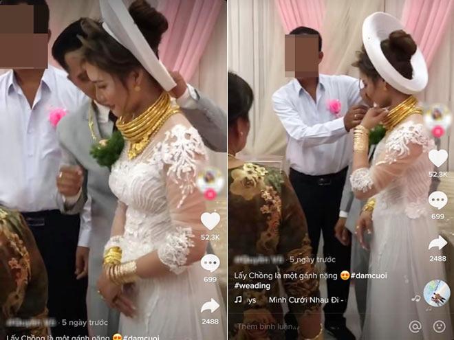 """""""Gánh nặng"""" trong ngày cưới của cô dâu Sóc Trăng khiến ai cũng muốn """"gánh"""" - 1"""