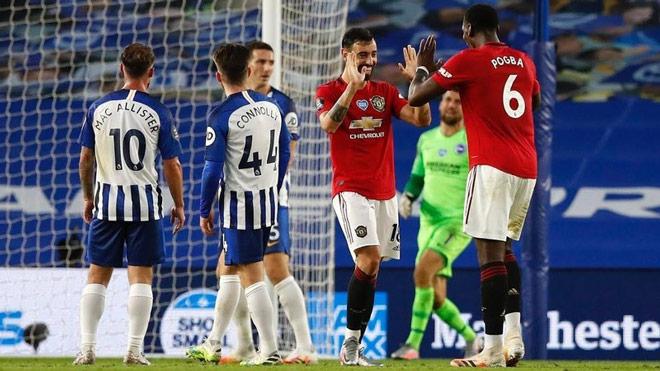 """Bruno Fernandes được Pogba """"dọn cỗ"""" mê mẩn, lập kỳ tích Ngoại hạng Anh - 1"""