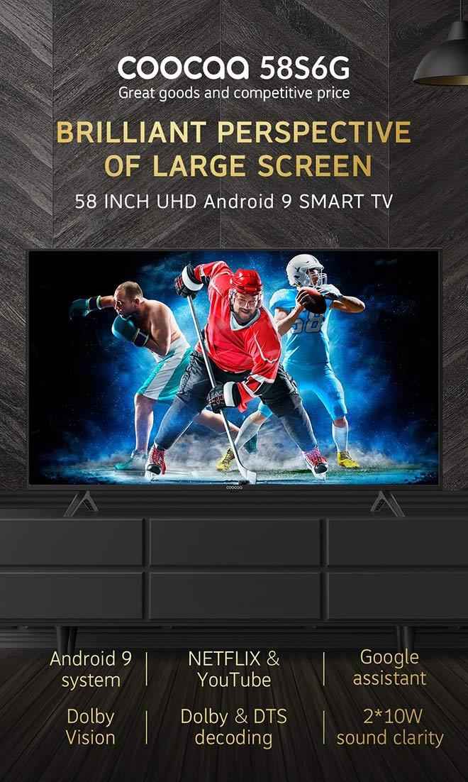 Coocaa ra mắt sản phẩm mới ngày 07/07 tại Shopee – chỉ 8,9 triệu đồng mua được tivi 4K 58 inch - 1
