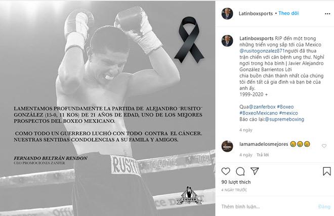 """Rúng động boxing: Ngôi sao có biệt danh """"Cướp biển"""" qua đời ở tuổi 21 - 1"""