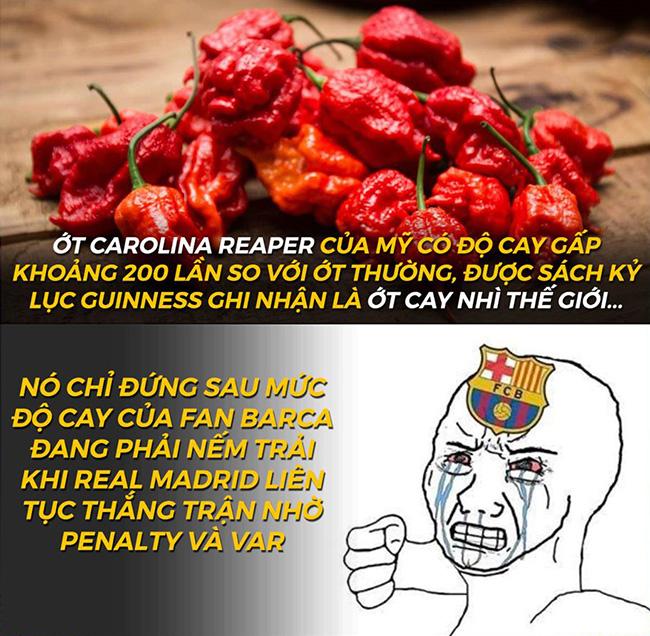 """Fan Barca """"cay cú"""" khi Real liên tục thắng trận nhờ penalty và VAR - 1"""