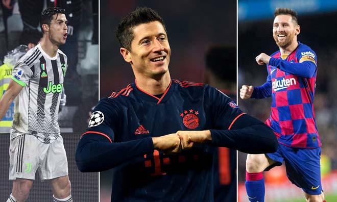 Ronaldo 5 bàn/5 trận: Messi khóc thét, Lewandowski lo mất Giày vàng - 1