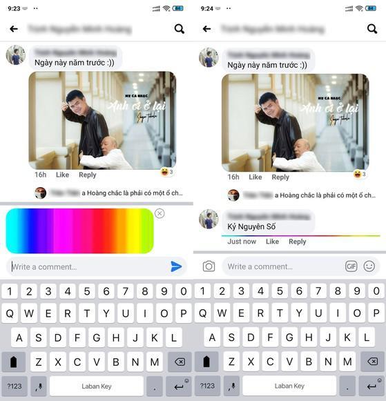 Cách đăng bình luận Facebook có đường kẻ đầy màu sắc - 1
