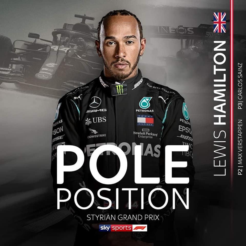 Đua xe F1 - phân hạng Styrian GP 2020: Hamilton bản lĩnh đoạt pole trong mưa - 1