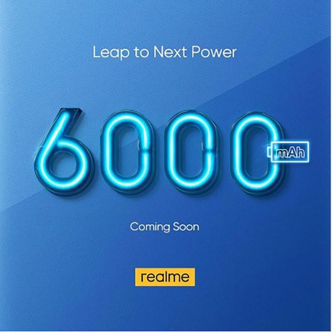 """Realme chuẩn bị """"chơi lớn"""" với smartphone có pin 6000 mAh - 1"""