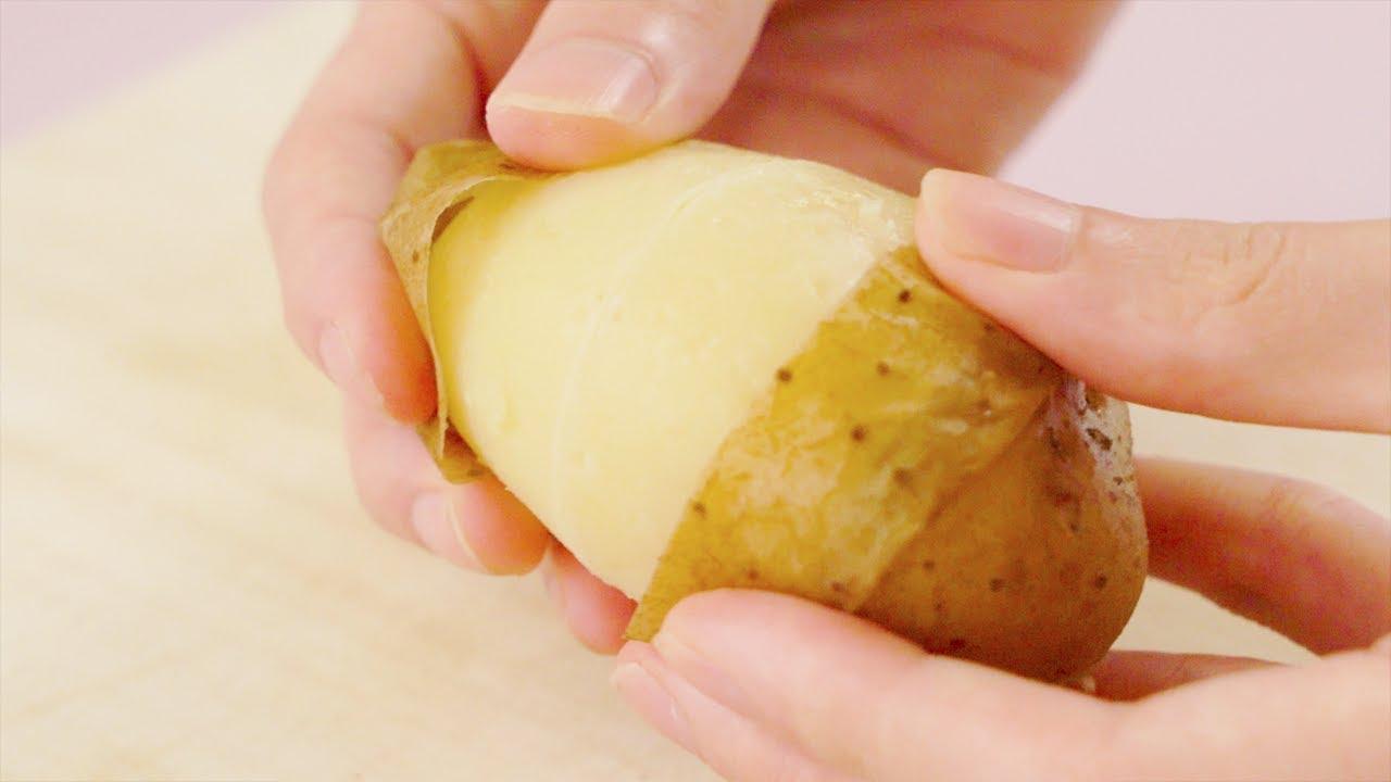 VIDEO: Mẹo bóc vỏ khoai tây siêu dễ, chẳng cần bất kỳ dụng cụ nào - 1
