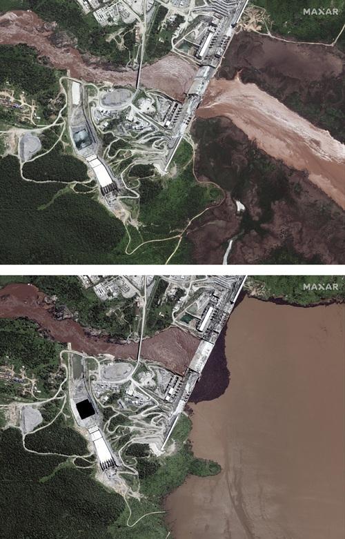 Ảnh vệ tinh hé lộ điều bất thường của siêu đập thủy điện chặn dòng sông Nile - 1
