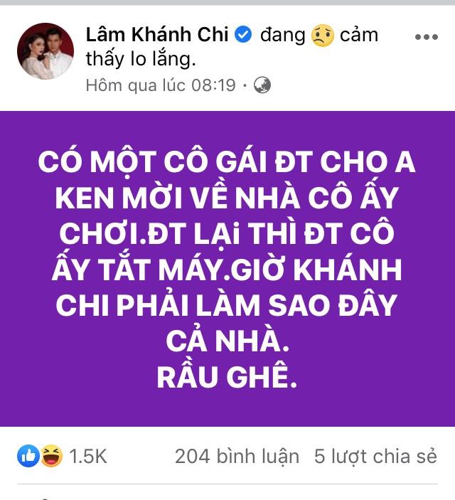 """Chồng trẻ kém 8 tuổi của Lâm Khánh Chi bị """"tiểu tam"""" gọi điện tán tỉnh, mời về tận nhà - 1"""