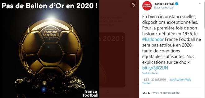 Ronaldo đón tin sốc: Hủy trao giải Quả bóng vàng 2020, nguyên nhân vì sao? - 1