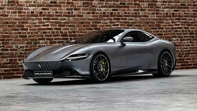 """Siêu xe Ferrari Roma sắm vai """"ma tốc độ"""" với gói độ cực đỉnh - 1"""
