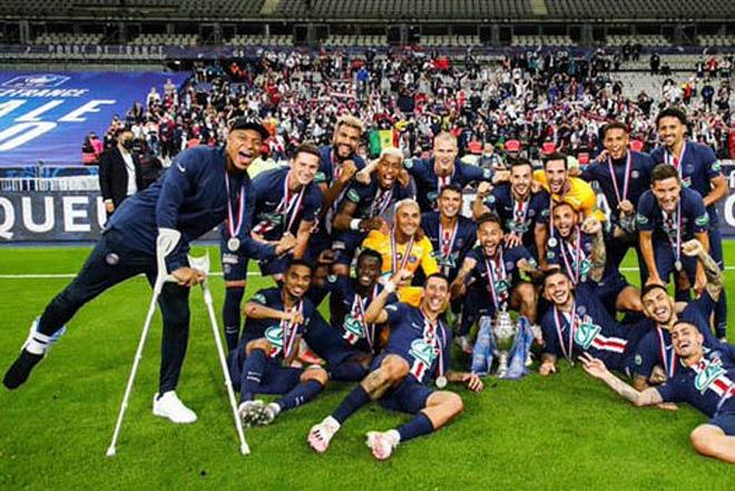 Mbappe chấn thương, chống nạng ăn mừng vô địch: Nghỉ bao lâu, có lỡ Cúp C1? - 1