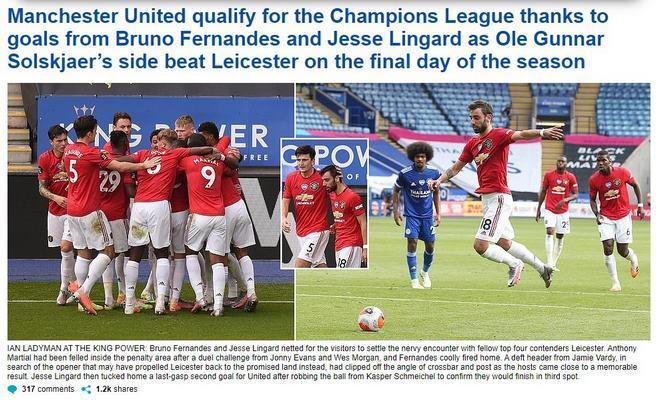 """MU hạ Leicester vào Top 3: Báo Anh tung hô 2 """"người hùng"""" nào? - 1"""