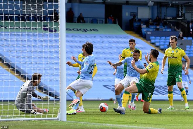 Video highlight trận Man City - Norwich: Phủ đầu choáng váng, siêu phẩm De Bruyne - 1