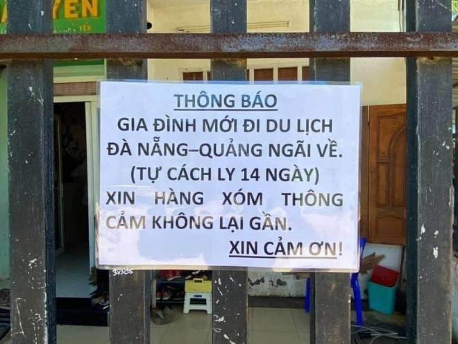 """Chuyện 1 gia đình ở Bà Rịa - Vũng Tàu dán thông báo: """"Mới đi du lịch Đà Nẵng- Quảng Ngãi về..."""" - 1"""