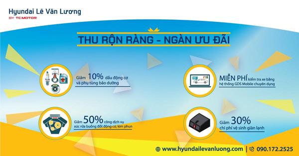 Loạt ưu đãi bảo dưỡng xe dành cho khách hàng Hyundai Lê Văn Lương - 1