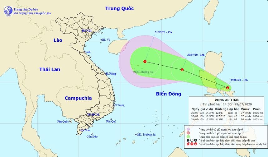 Xuất hiện vùng áp thấp gần Biển Đông, hướng thẳng về các tỉnh Bắc Bộ - 1