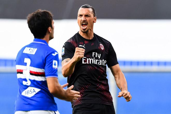 Video highlight Sampdoria - AC Milan: Ibra ghi cú đúp, đại tiệc 5 bàn - 1