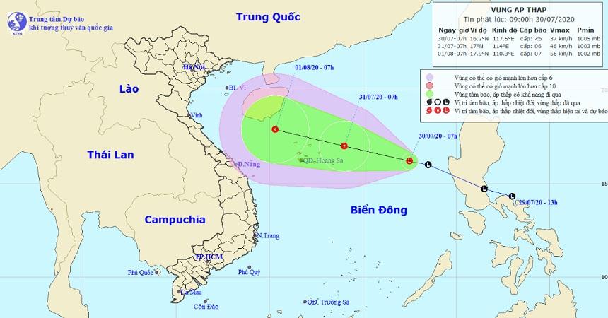 Vùng áp thấp đã đi vào Biển Đông, miền Bắc sắp có mưa lớn diện rộng - 1