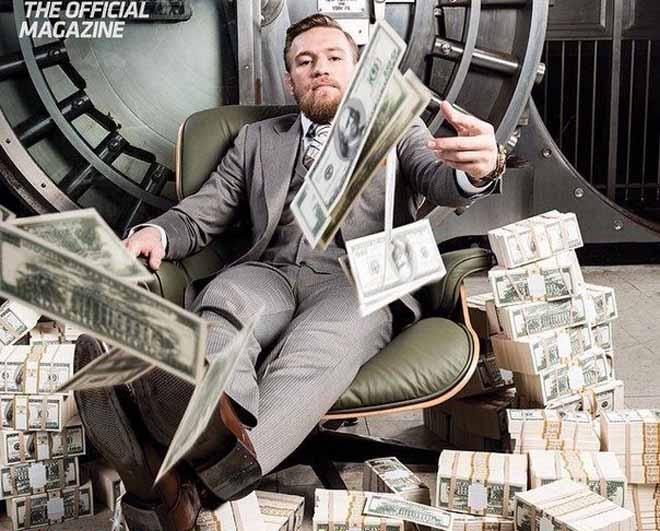 """McGregor siêu giàu kiếm 1.100 tỷ đồng/phút, hơn CR7: """"Gã điên"""" tiêu tiền thế nào? - 1"""