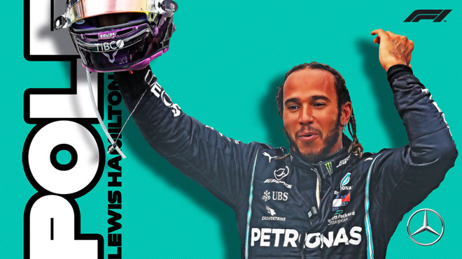 """Đua xe F1, chặng British GP: Pole thứ 91 cho """"Nhà vua"""" Lewis Hamilton - 1"""