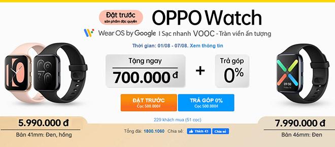 """Đặt trước siêu phẩm OPPO Watch đầu tiên với """"giá cực tốt"""", độc quyền tạiThế Giới Di Động - 1"""