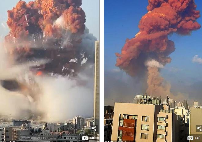 Nổ khủng khiếp như bom nguyên tử khiến 78 người chết, 4.000 người bị thương ở Liban - 1