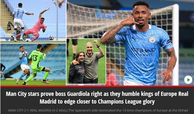 """Man City hạ bệ """"cựu vương"""" Real: Báo Anh mơ chức vô địch Champions League - 1"""
