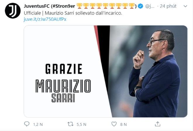 Juventus chính thức sa thải HLV Sarri: Pochettino hay ai về dẫn dắt Ronaldo? - 1