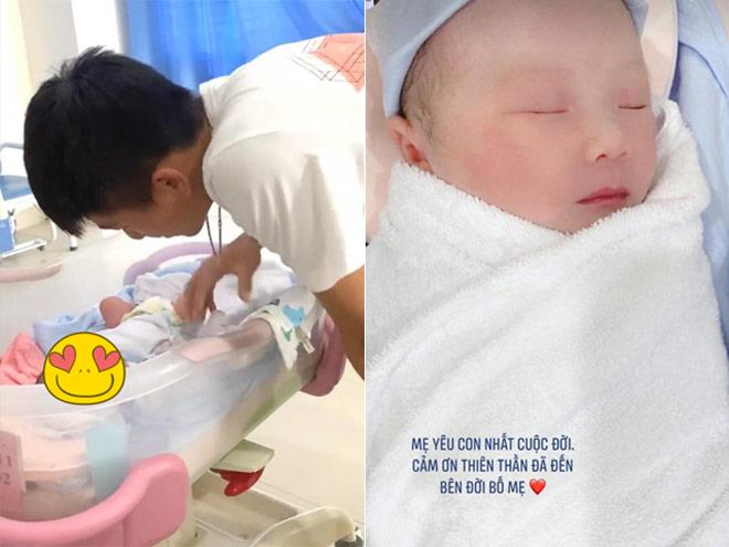 """Vừa sinh con 2 ngày, bà xã Văn Đức đã khoe nhan sắc """"mòn con mắt"""" - 1"""