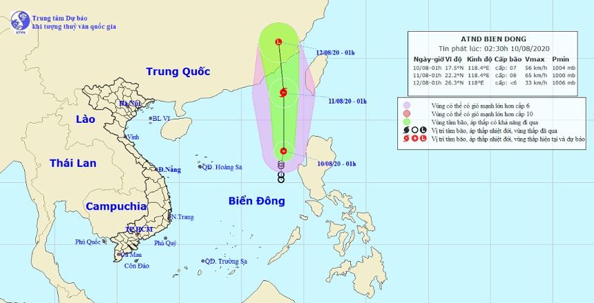 Áp thấp nhiệt đới trên Biển Đông di chuyển nhanh, có khả năng mạnh thành bão - 1