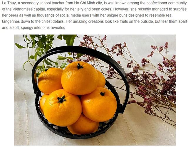 Cô giáo ở TP.HCM lên báo nước ngoài khi làm ra loại bánh giống hệt trái cây - 1