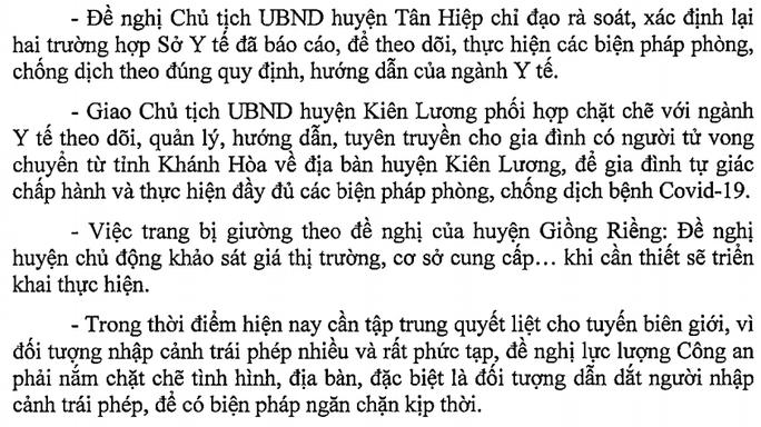 CDC Kiên Giang lên tiếng việc 1 người tử vong ở Khánh Hòa chuyển về đây chôn cất - 1