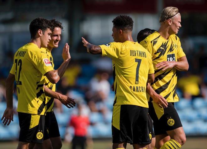 Dortmund thắng giao hữu 6-0: Sancho góp mặt, Haaland rực sáng ghi cú đúp - 1