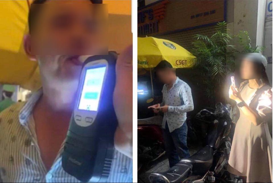 Vi phạm nồng độ cồn, tài xế rút thẻ chuyên viên xin CSGT bỏ qua - 1