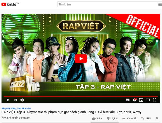 """Rap Việt lập nên lịch sử: Đạt con số người xem cùng lúc siêu """"khủng"""" - 1"""