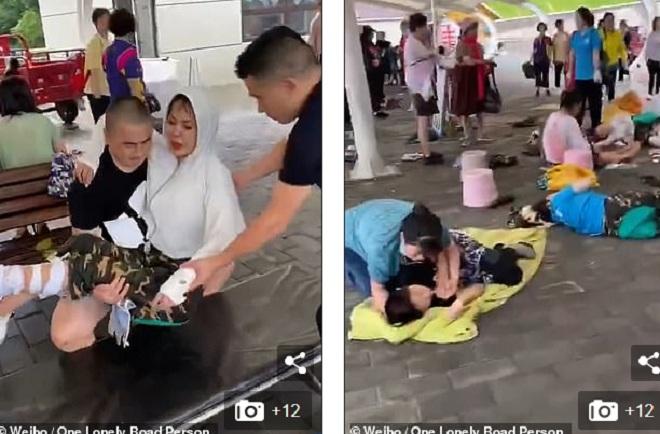 Sự cố chết người tại cầu trượt bằng kính dài gần 1.000m ở Trung Quốc - 1
