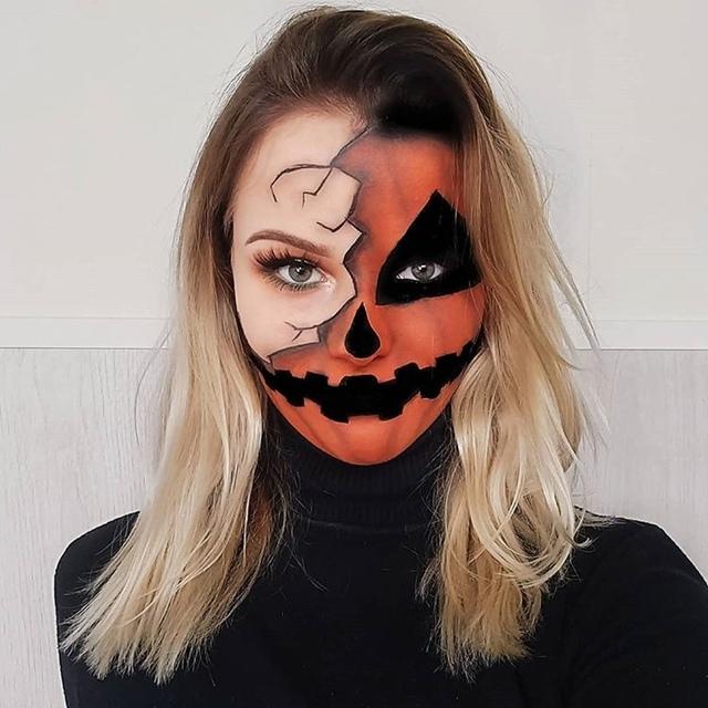 Những ý tưởng trang điểm Halloween nửa mặt có phần đáng sợ và tuyệt đẹp - 1