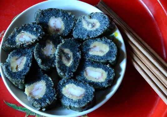 Bánh chưng đen, bánh rán tam giác mạch xứ Lạng - 1