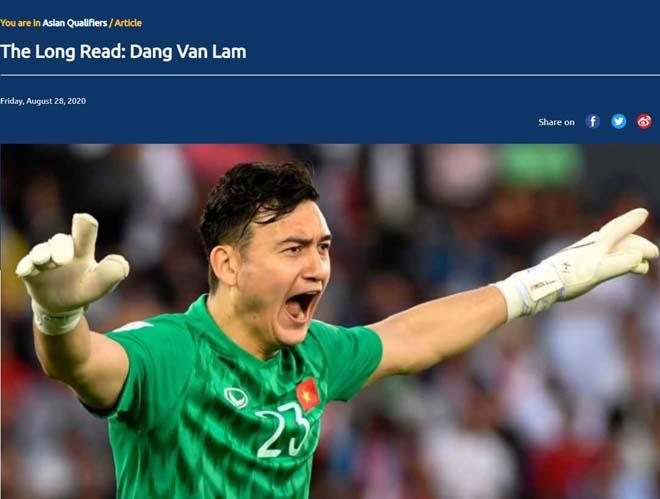 Thủ môn Văn Lâm thổ lộ giấc mơ dự World Cup trên trang chủ AFC - 1