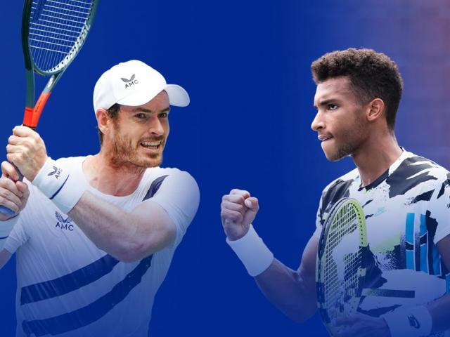 Video tennis Murray - Aliassime: Cựu vương khốn khó, kết cục sững sờ (Vòng 2 US Open 2020)