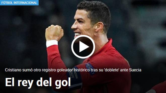 """Ronaldo ghi 101 bàn thắng như """"tên lửa"""": Báo chí ca ngợi """"vua ghi bàn"""" - 1"""