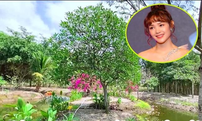 Mới đây, Minh Hằng khiến công chúng bất ngờ khi chia sẻ clip đi thăm mảnh đất cô từng mua trước đó. Khu đất có diện tích 20.000m2 ngợp bóng cây xanh, vườn cây ăn trái, ao cá ở Nhơn Trạch, Đồng Nai.