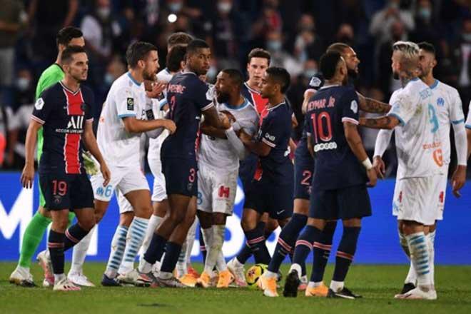 Bạo loạn siêu kinh điển bóng đá Pháp: Neymar & 4 SAO ăn thẻ đỏ trong 3 phút - 1