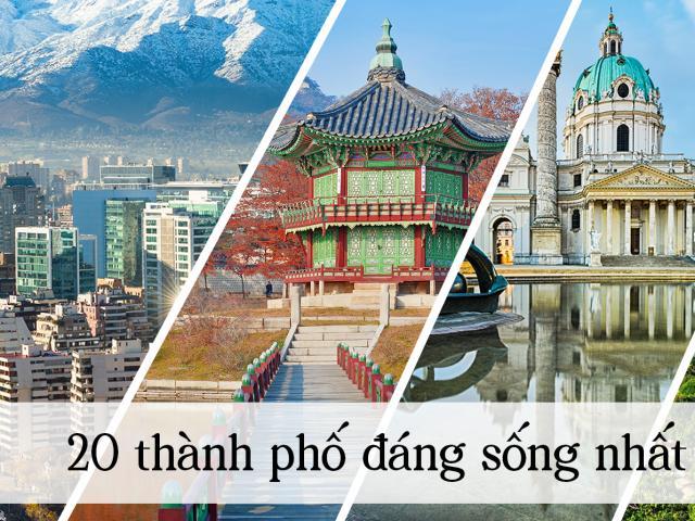 Du lịch - 20 thành phố đáng sống nhất thế giới