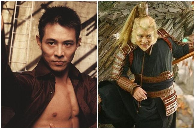 """Siêu sao võ thuật Lý Liên Kiệt gây ấn tượng với hình ảnh Tôn Ngộ Không trong phim """"Vua kungfu"""". Phim có nhiều cảnh giao đấu và những chi tiết hài hước khi Tôn Ngộ Không đánh nhau với Hop."""