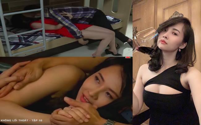 """Trong """"Không lối thoát"""", Lucy Như Thảo vào vai một cô y tá xem chuyện quan hệ tình dục là một món hàng để trao đổi, giúp cô tiến thân trong công việc và cuộc sống."""