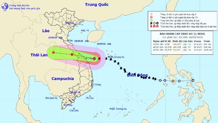 Bão số 5 bắt đầu đi vào vùng biển miền Trung, mưa to, gió giật nhiều nơi - 1
