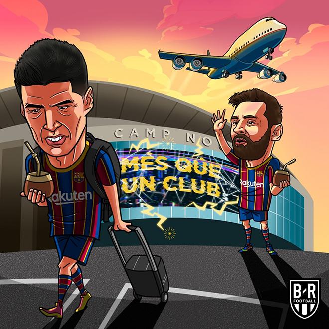 Ảnh chế: Messi ngậm ngùi tiễn bạn thân rời khỏi Barca - 1