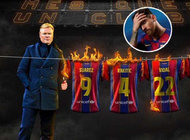 Barcelona loại Suarez thẳng tay: HLV Koeman âm mưu cô lập Messi - 1